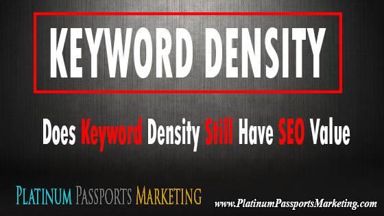 Does Keyword Density Still Have SEO Value?