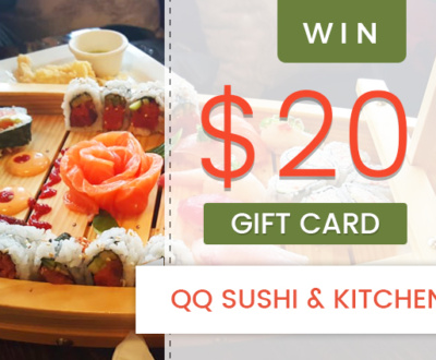 Win A 20 Gift Card To QQ Sushi And Kitchen1